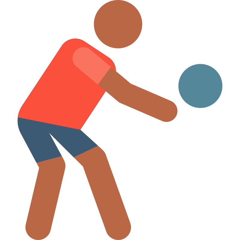 Glosario de Balonmano (handball o hándbol): deporte de pelota en el que se enfrentan dos equipos, se caracteriza por transportar la pelota con las manos.