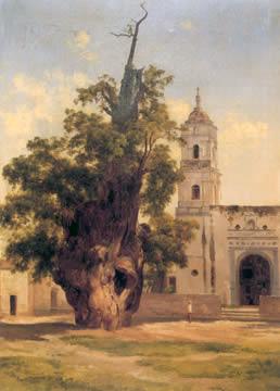 Ahuehuete de la noche triste, pintura por José María Velasco (1885).