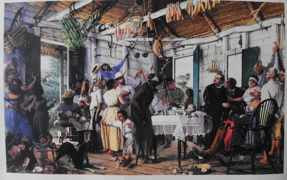 El Velorio | Pintura de Francisco Oller sobre el Baquiné