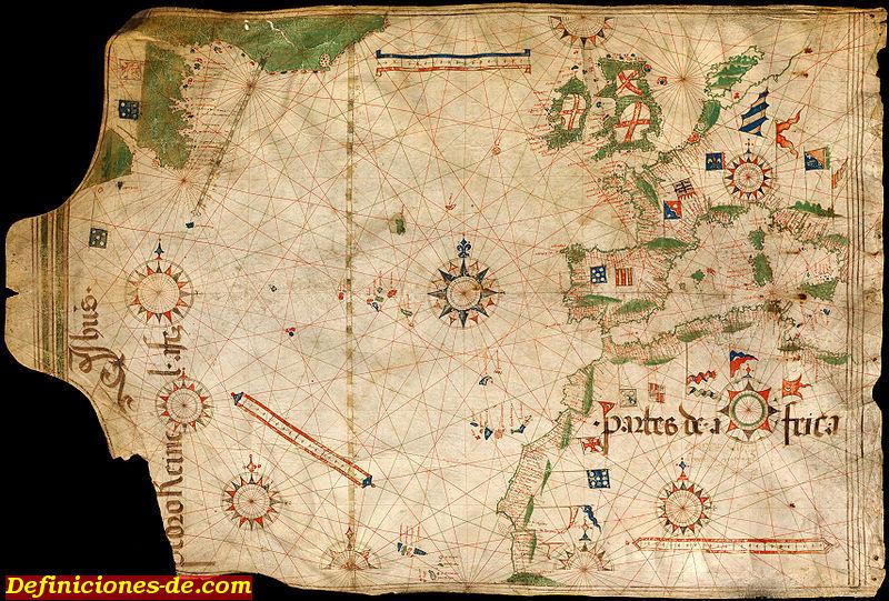 Carta de marear del portugués Pedro Reinel, c. 1504