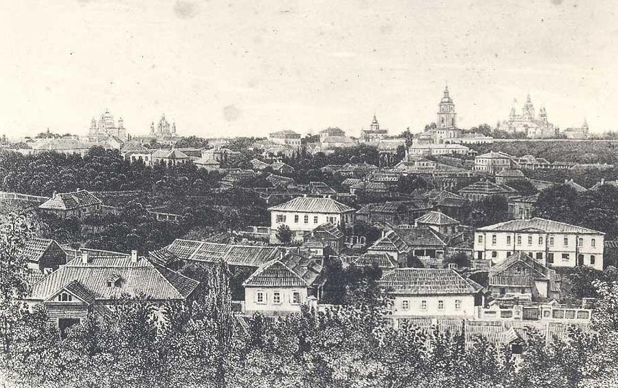 cincograbado de la ciudad de Kiev