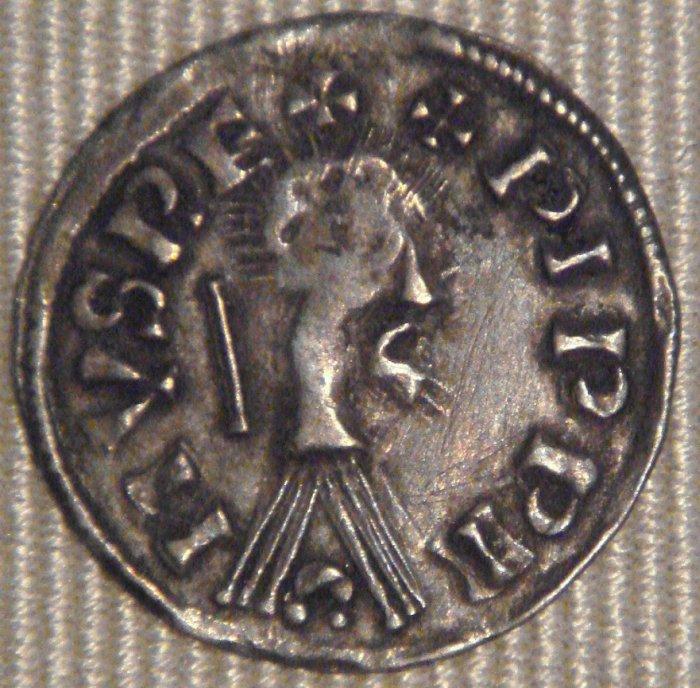Moneda denier del siglo IX.