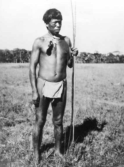 Aborigen usando un guayuco