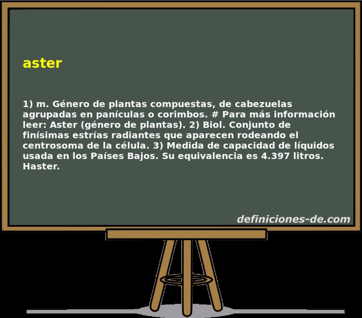 Qué significa Aster?