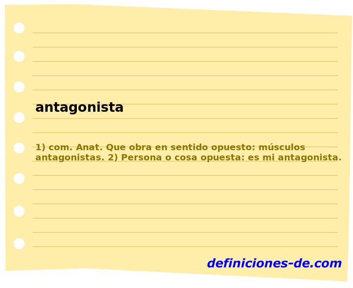 Qué significa Antagonista?