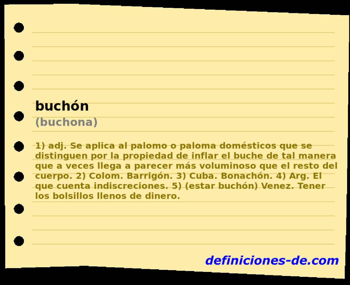 Buchón Buchona Significado De Buchón
