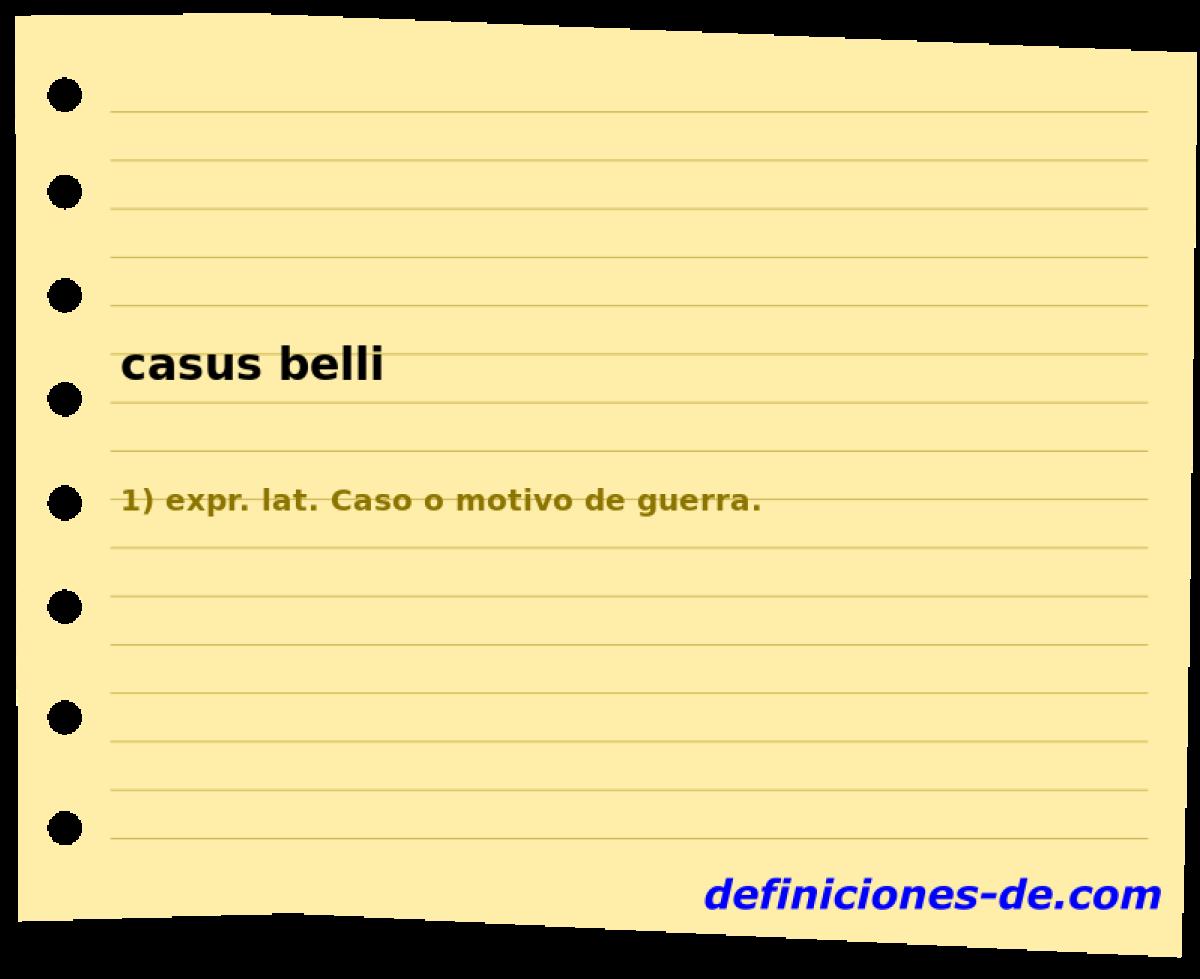 casus belli q significa