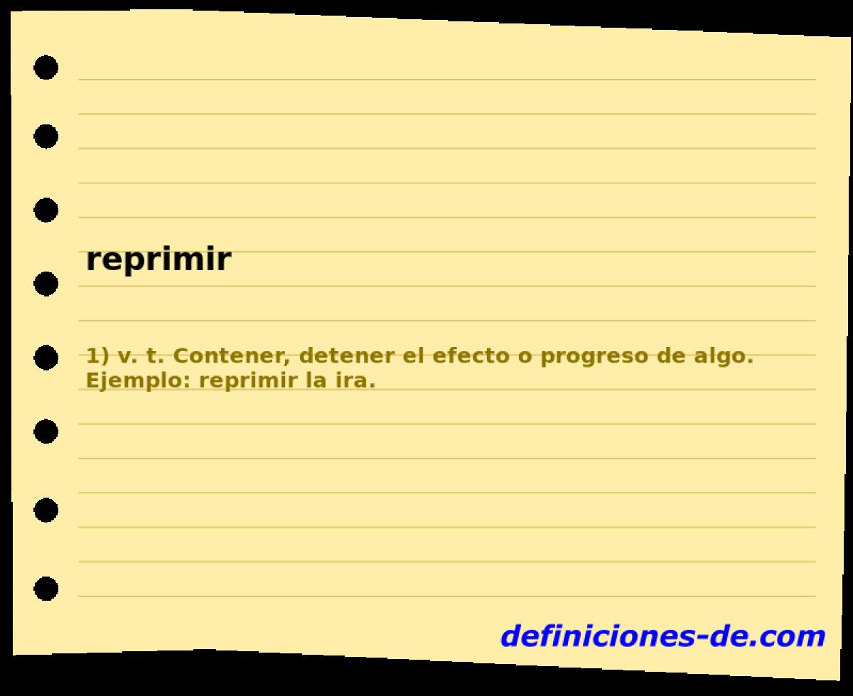 Qué significa Reprimir?