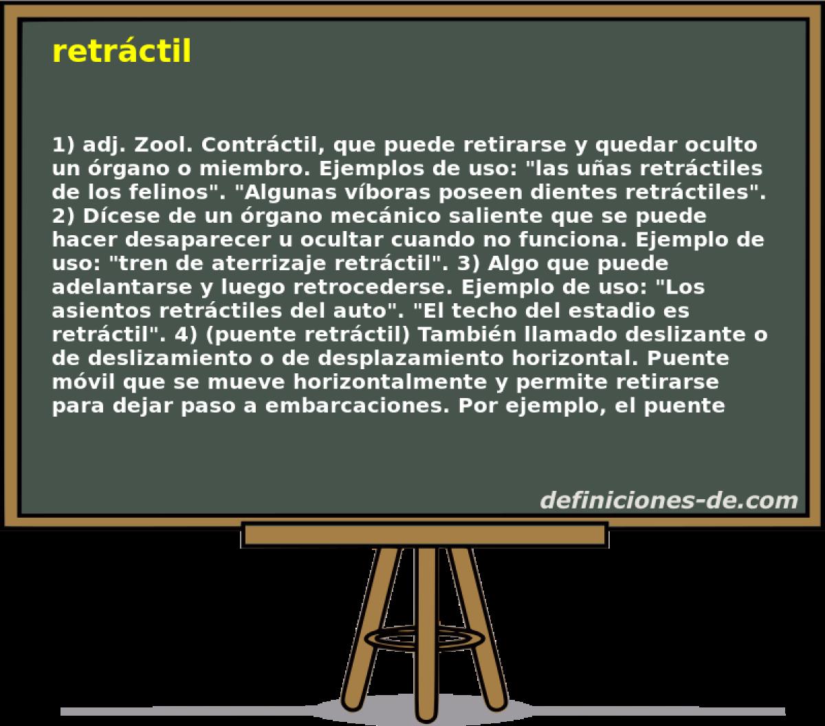 Qué significa Retráctil?