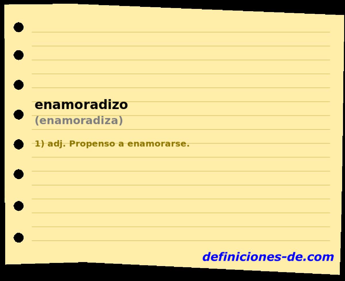 Qué significa Enamoradizo (enamoradiza)?