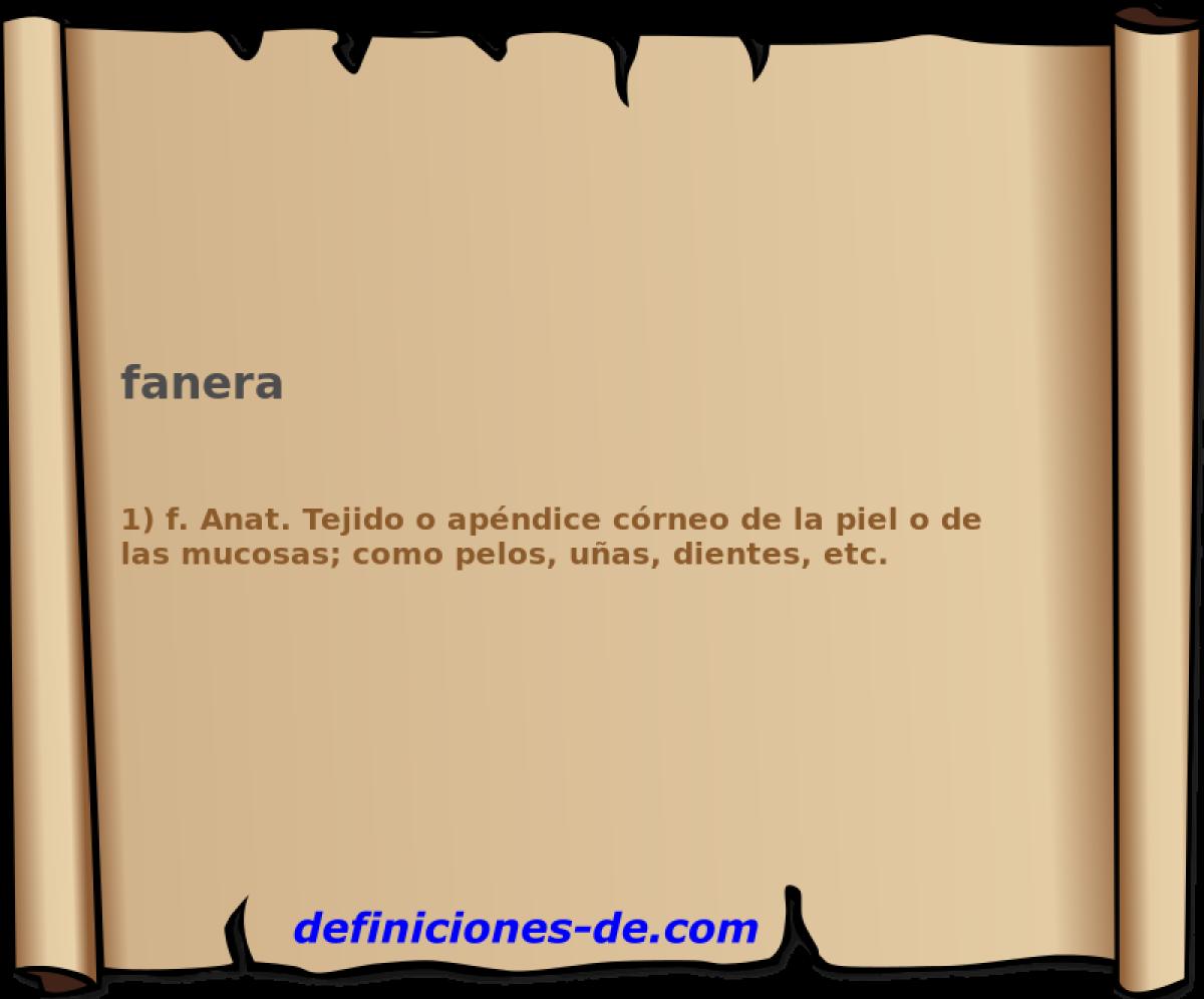 Qué significa Fanera?