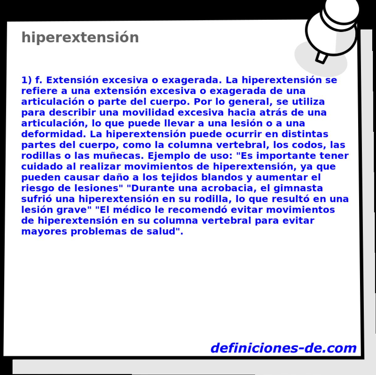 Qué significa Hiperextensión?