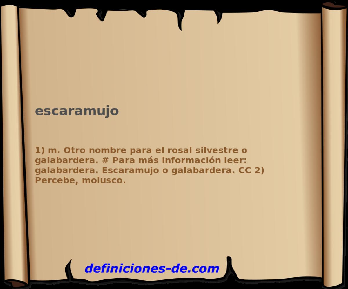 Qué significa Escaramujo?