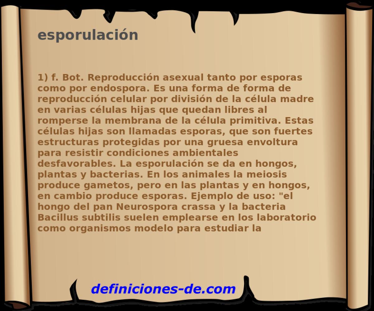 Reproduccion asexual escision ejemplos de sinonimos