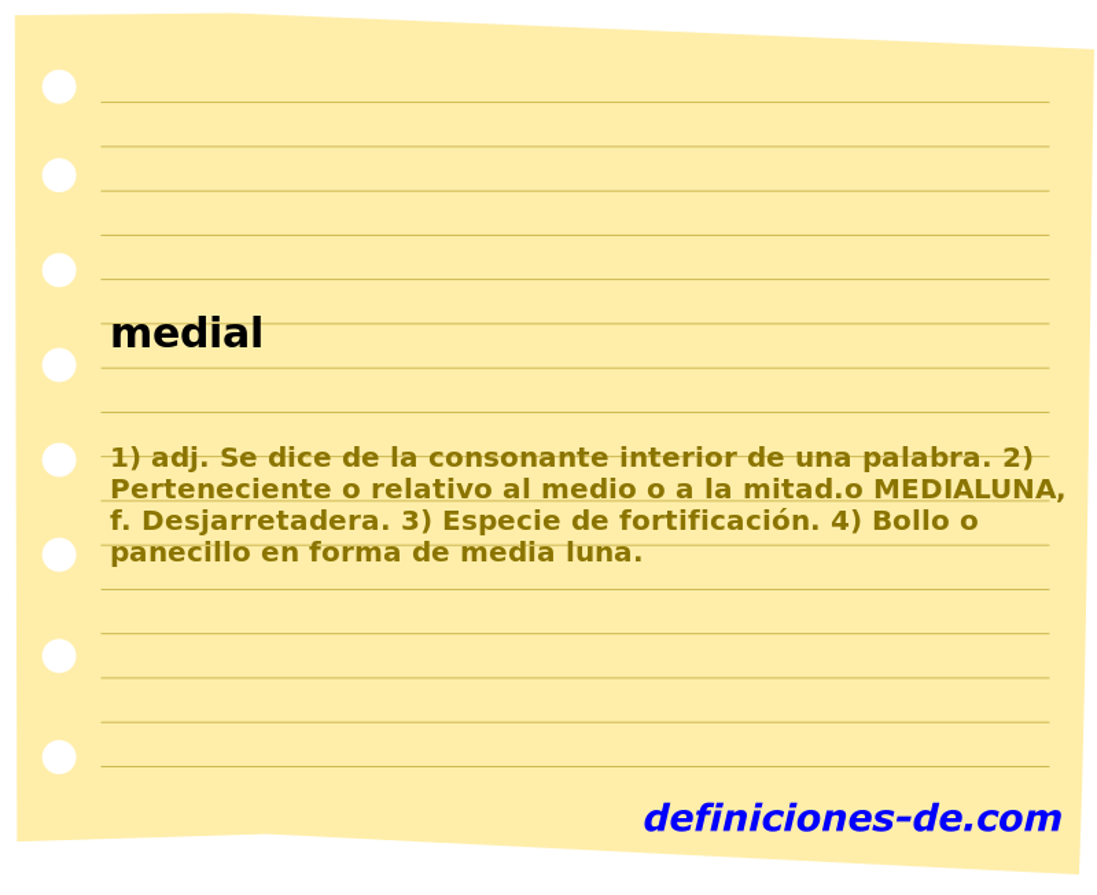 Qué significa Medial?