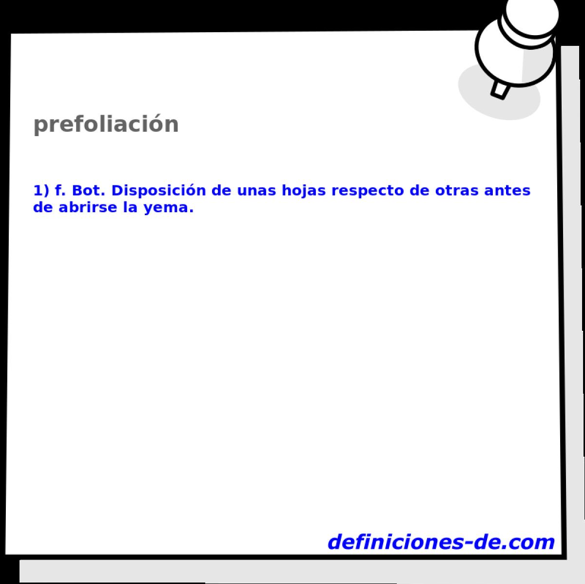 Qué significa Prefoliación?