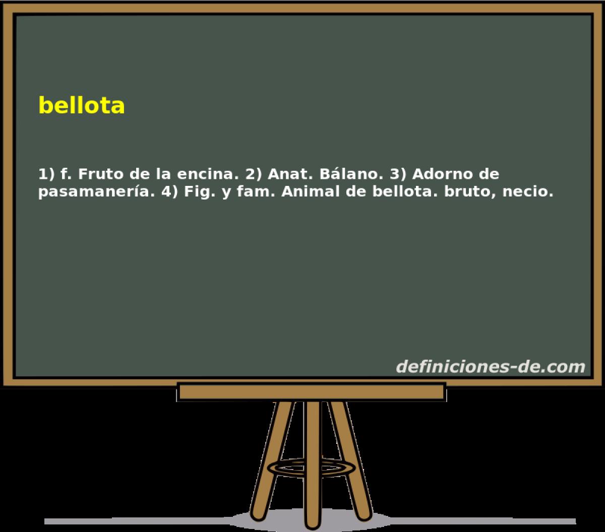 Qué significa Bellota?