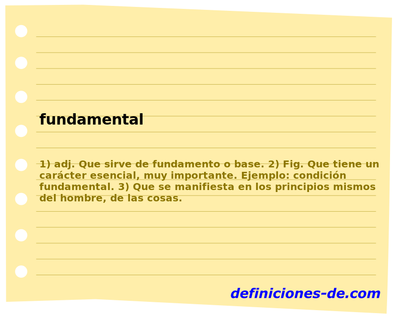 Sinonimo de fundamental