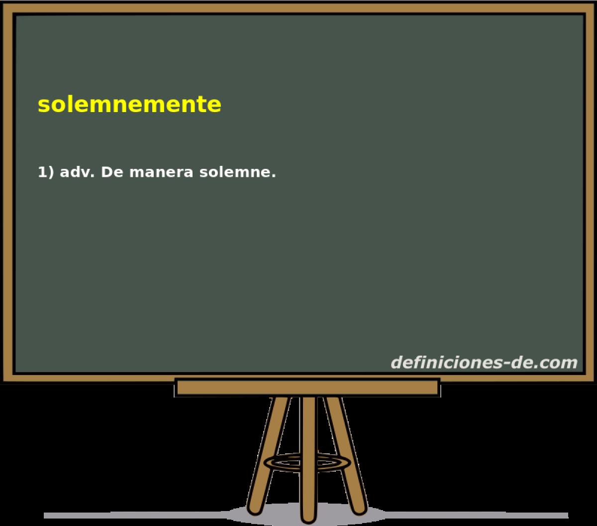 Sinónimo de solemne