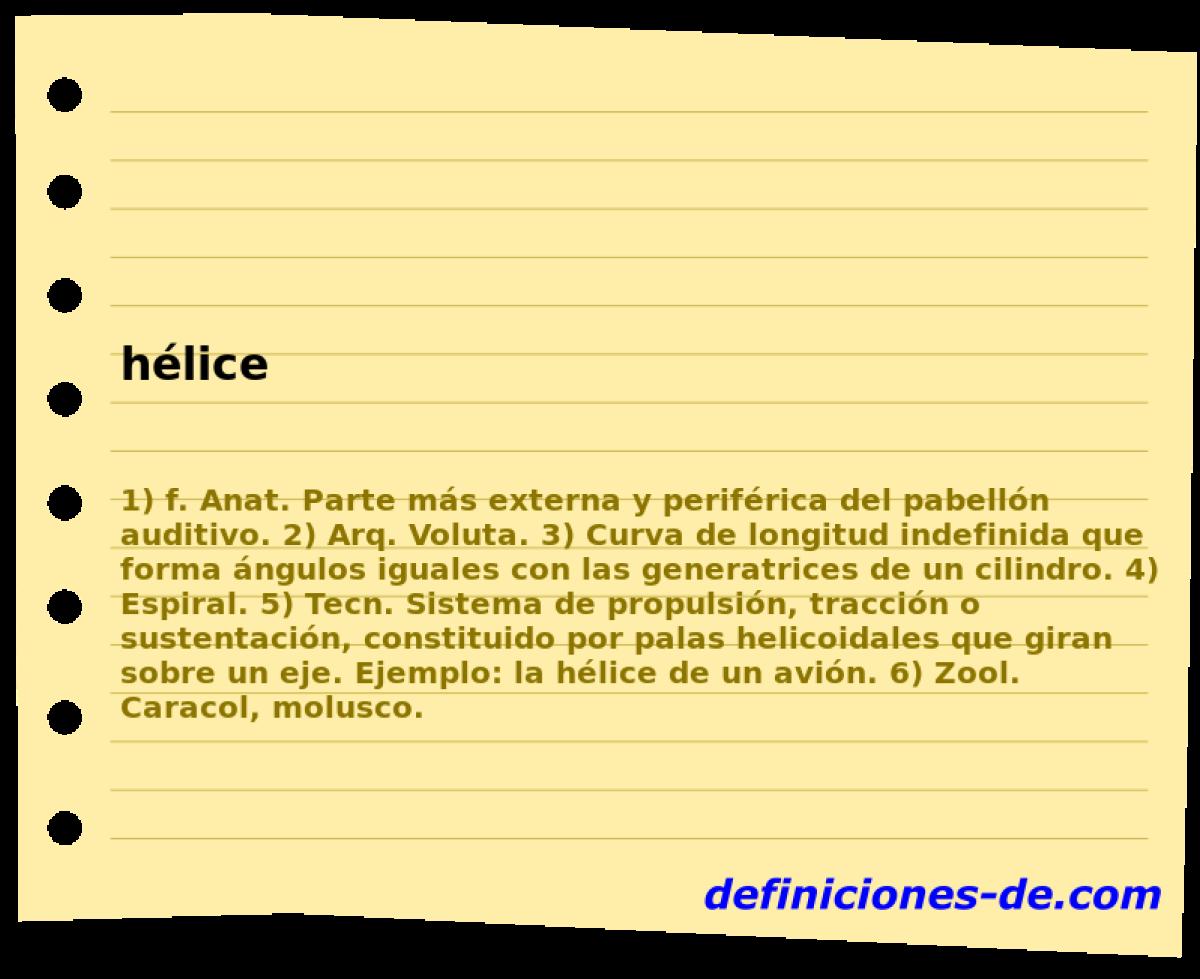Qué significa Hélice?