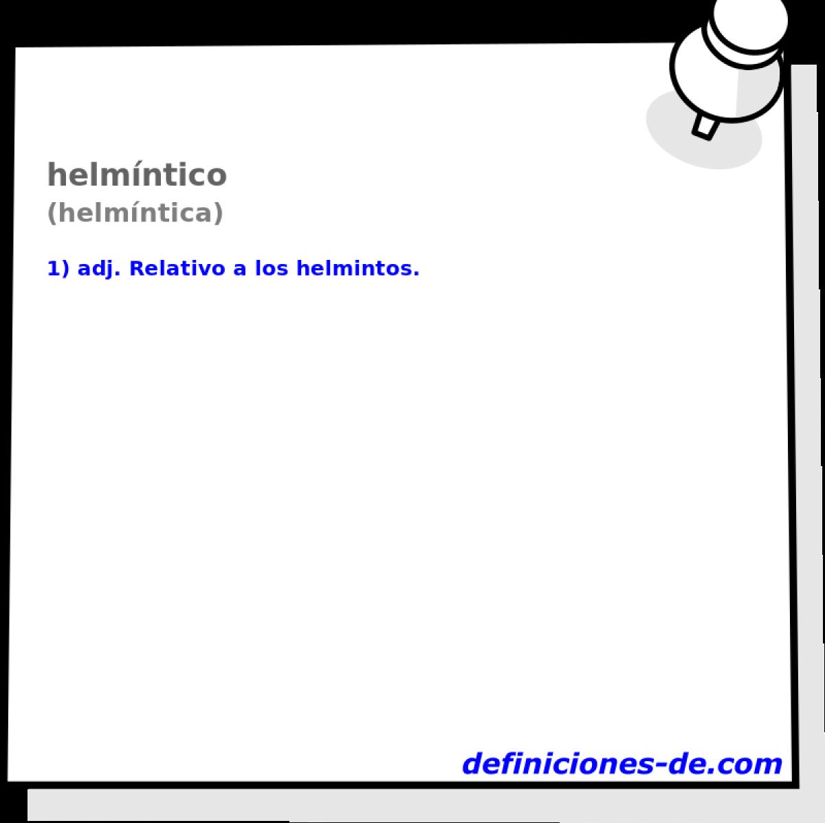 o helmintiază)