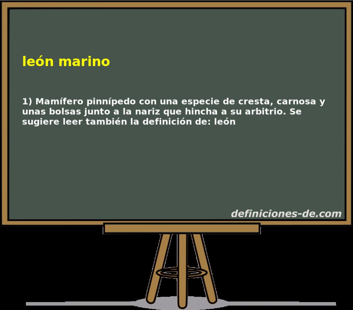 Qué significa León marino?