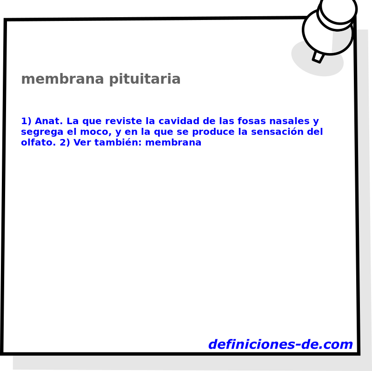 Qué significa Membrana pituitaria?