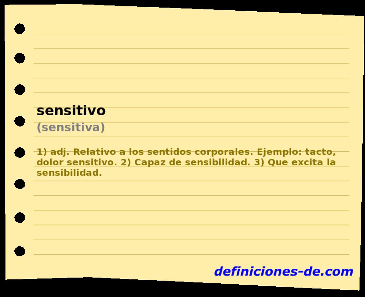 Qué significa Sensitivo (sensitiva)?