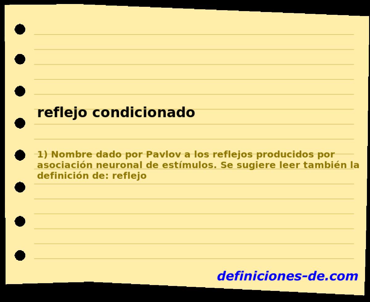 Qué significa Reflejo condicionado?