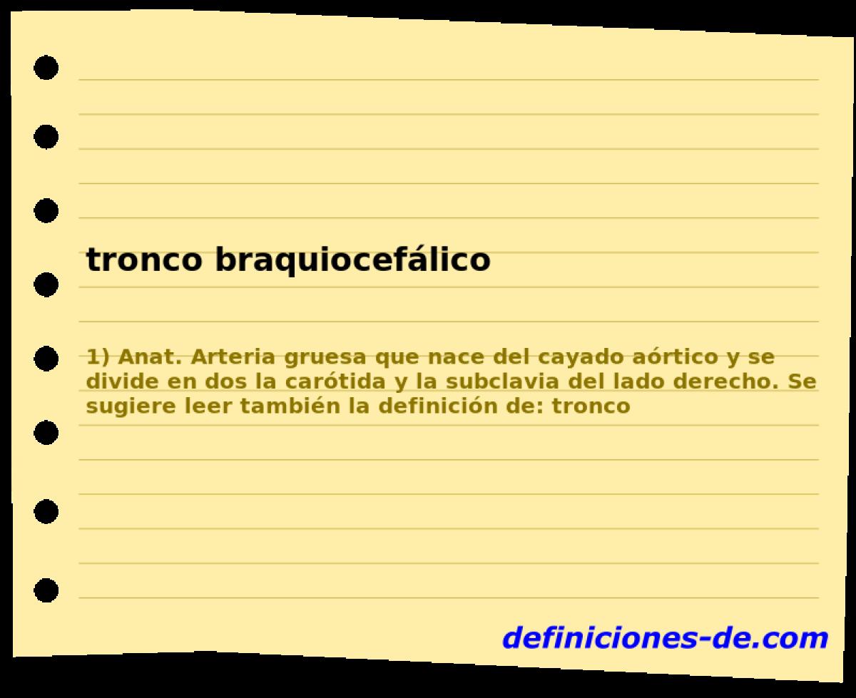 Qué significa Tronco braquiocefálico?
