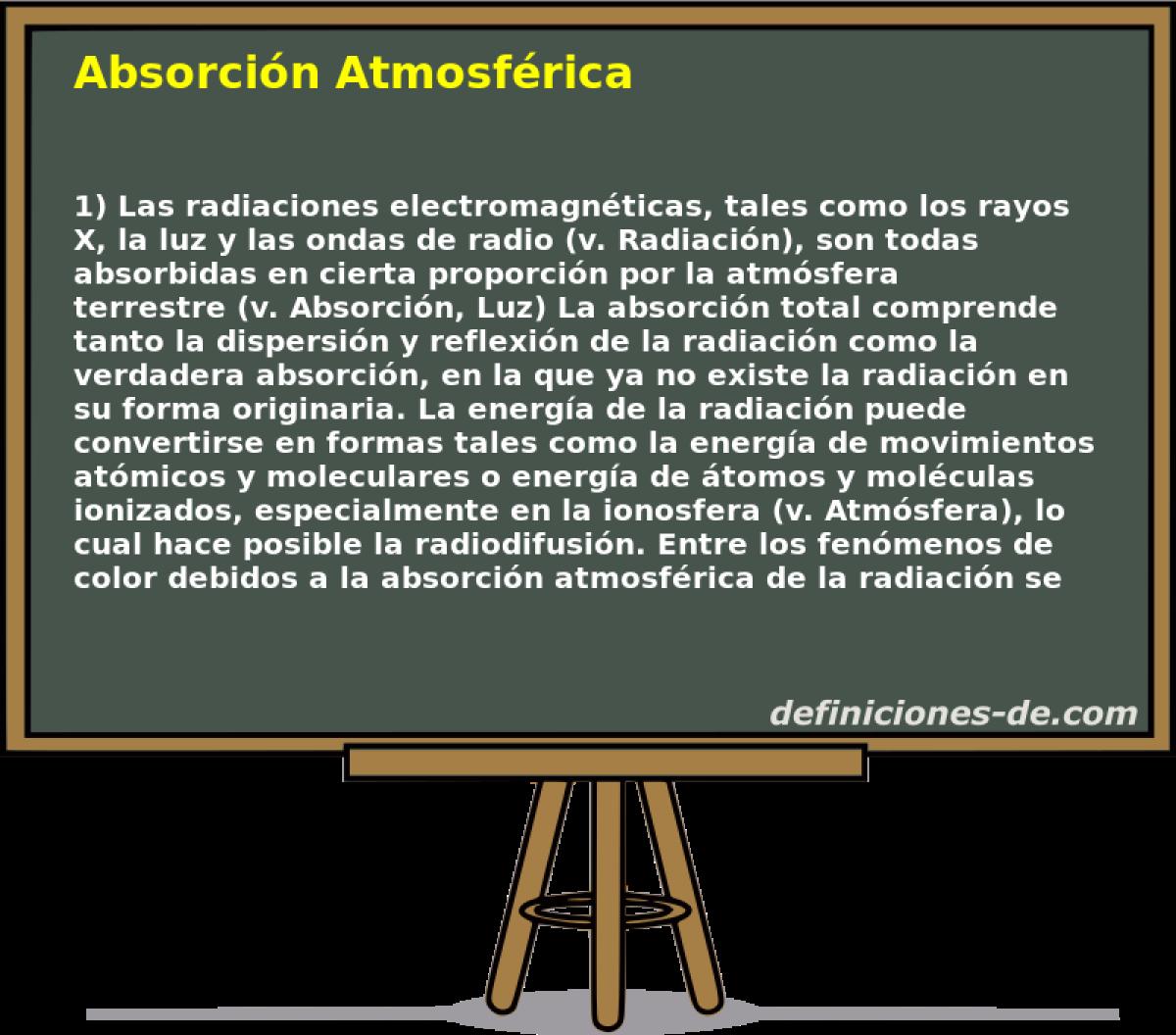 Qué significa Absorción Atmosférica?