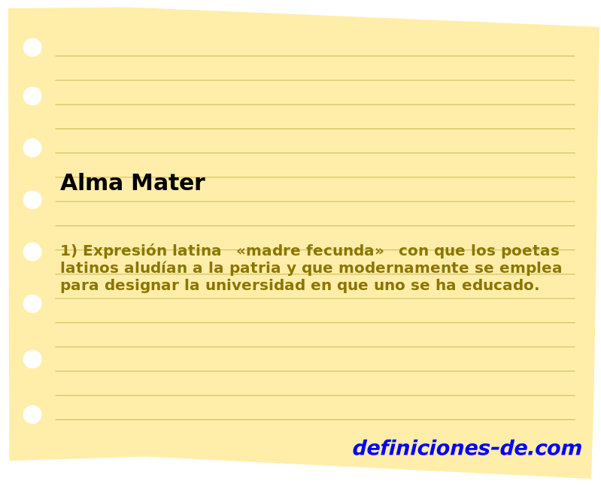 Qué Significa Alma Mater