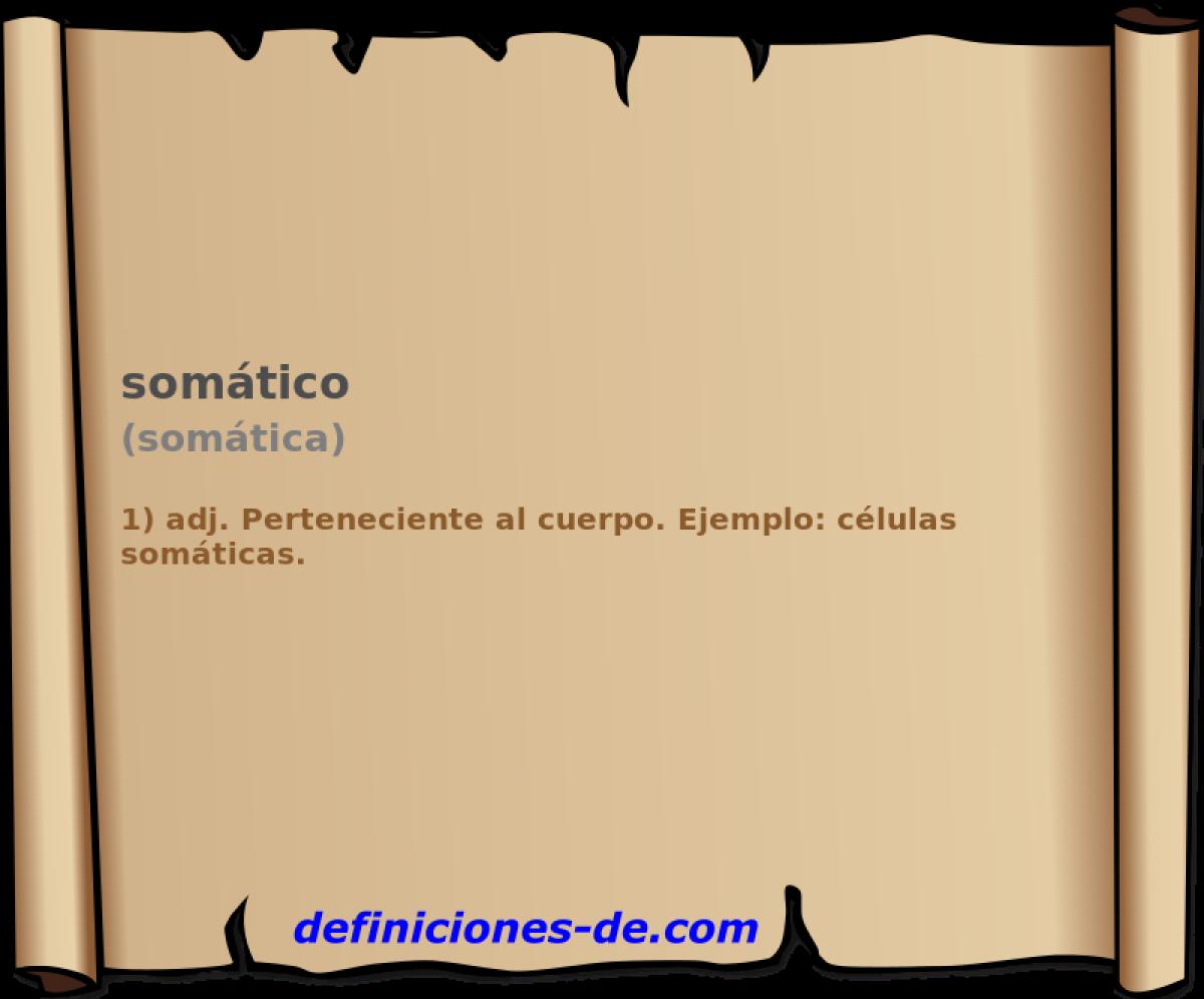 Qué significa Somático (somática)?