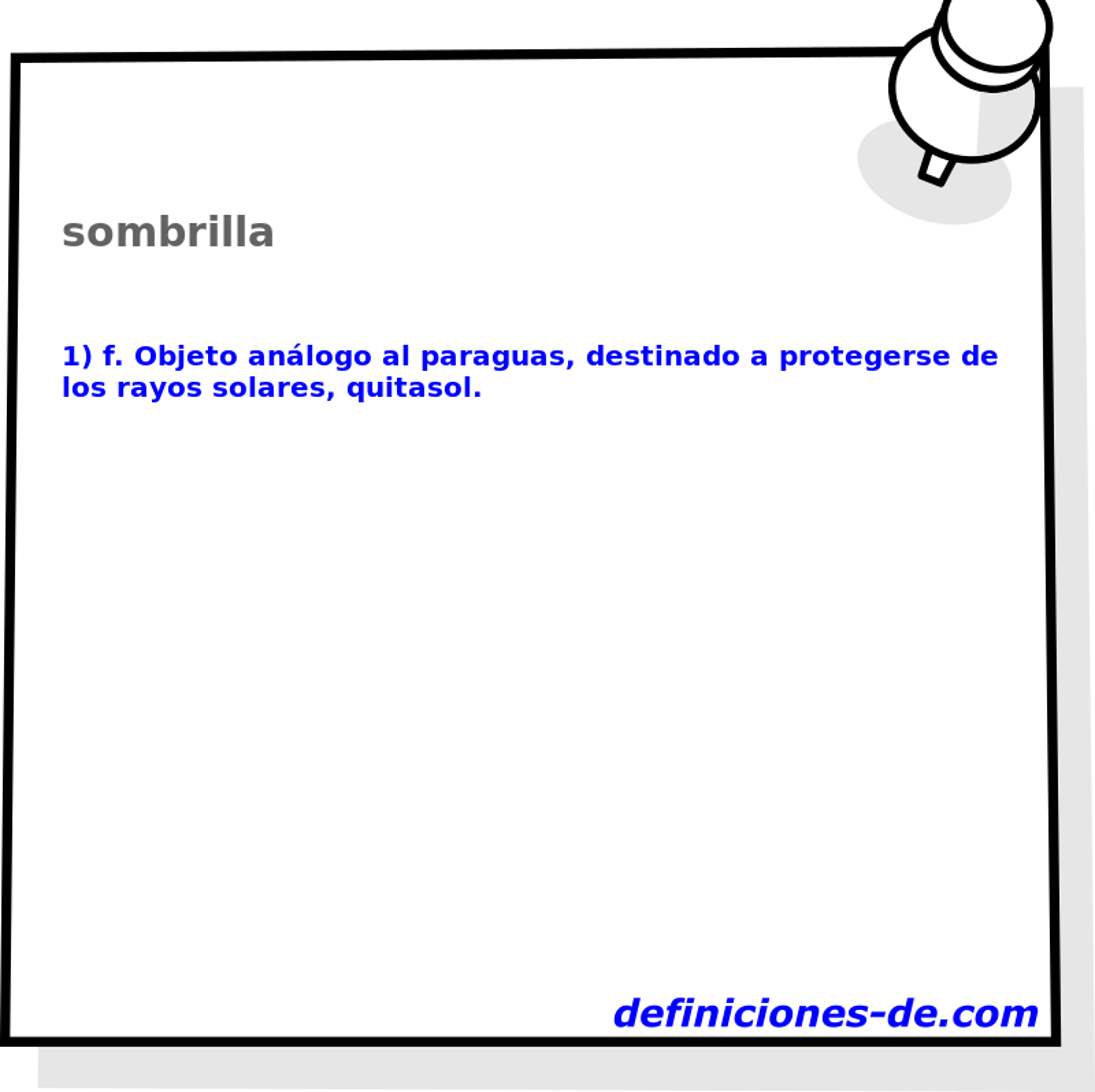 Qué significa Sombrilla?