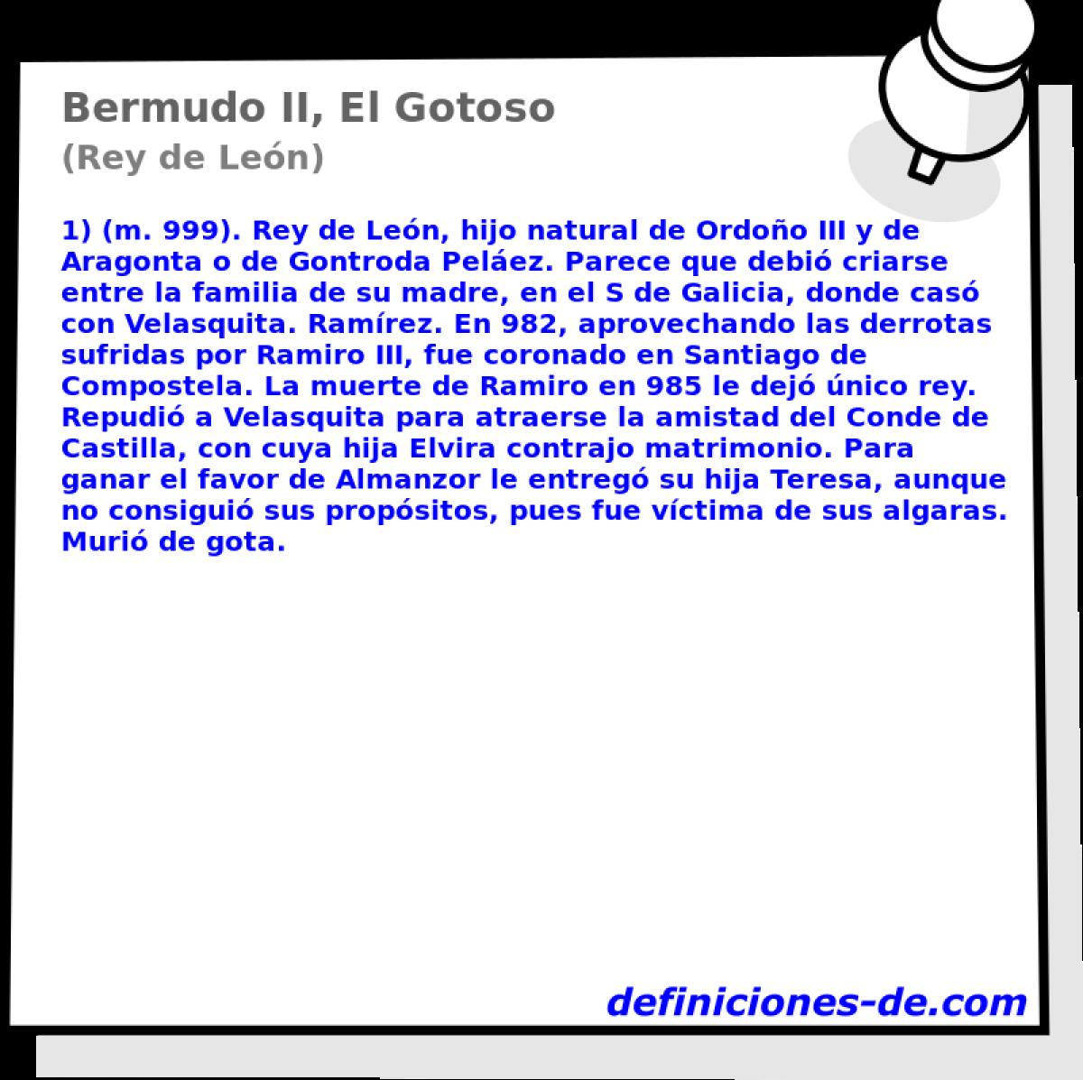 Gotosorey León De Bermudo IiEl Breve Biografía thrdCsxBQ