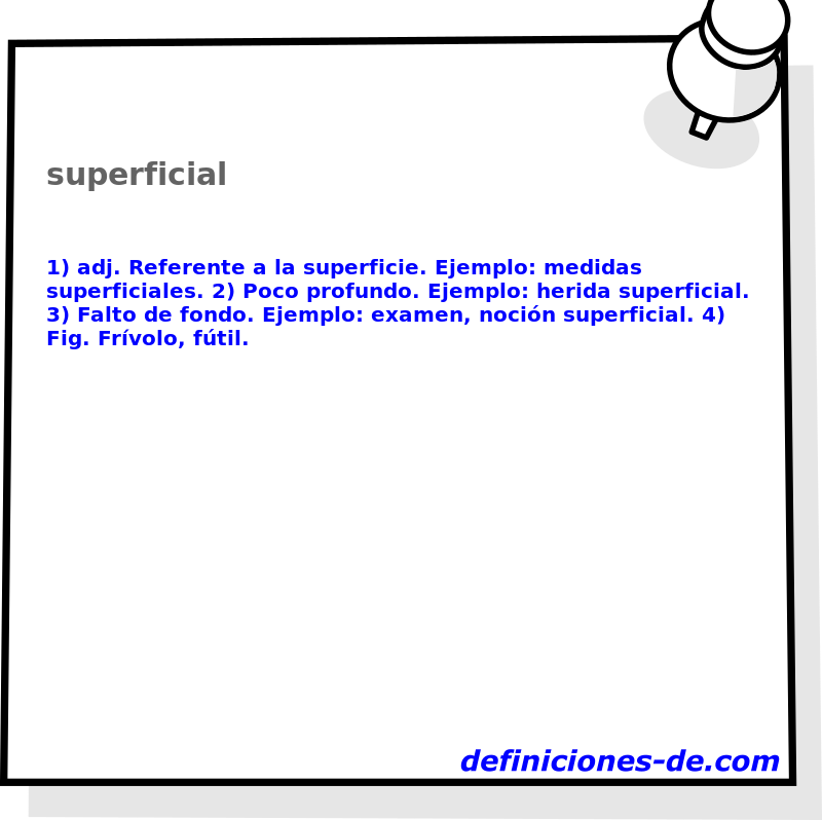 Qué significa Superficial?