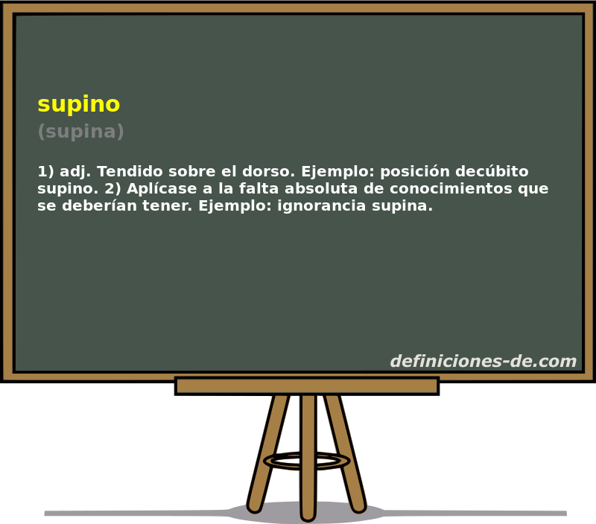 Qué significa Supino (supina)?