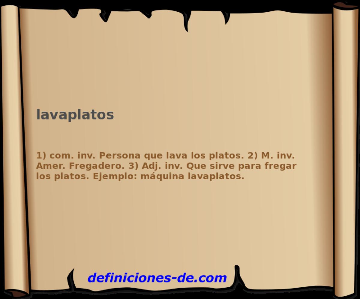 Qué significa Lavaplatos?
