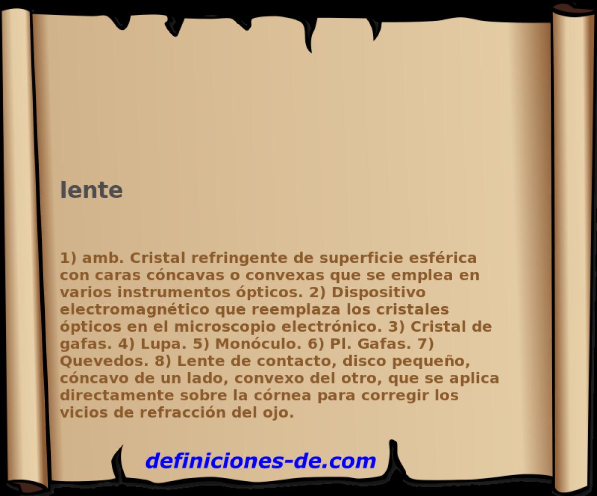 cbb349cb66d7e ¿Qué significa Lente