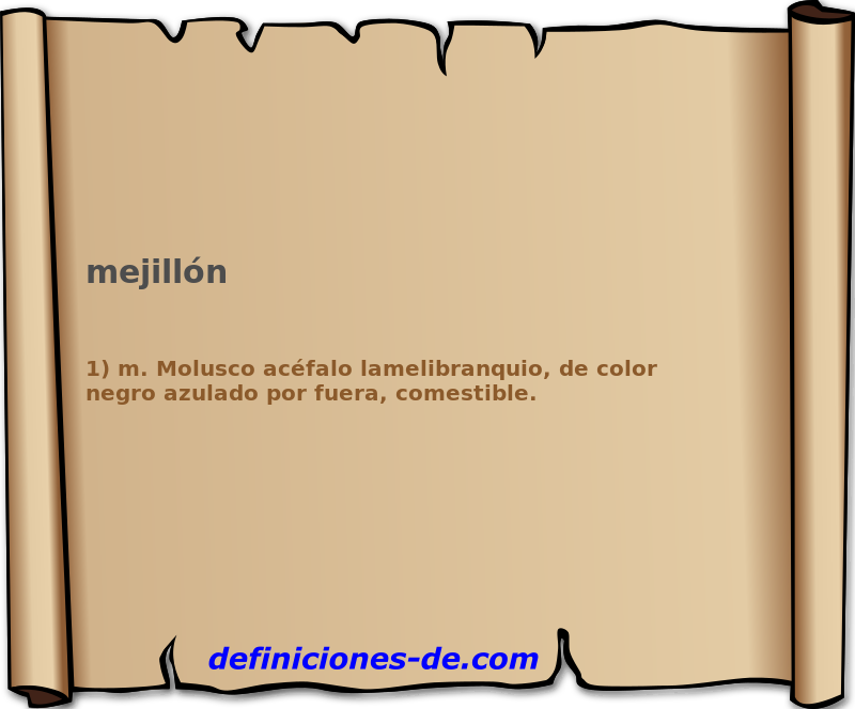 Qué significa Mejillón?