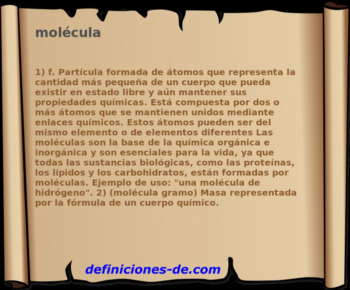 Qu significa mol cula for Que significa molecula