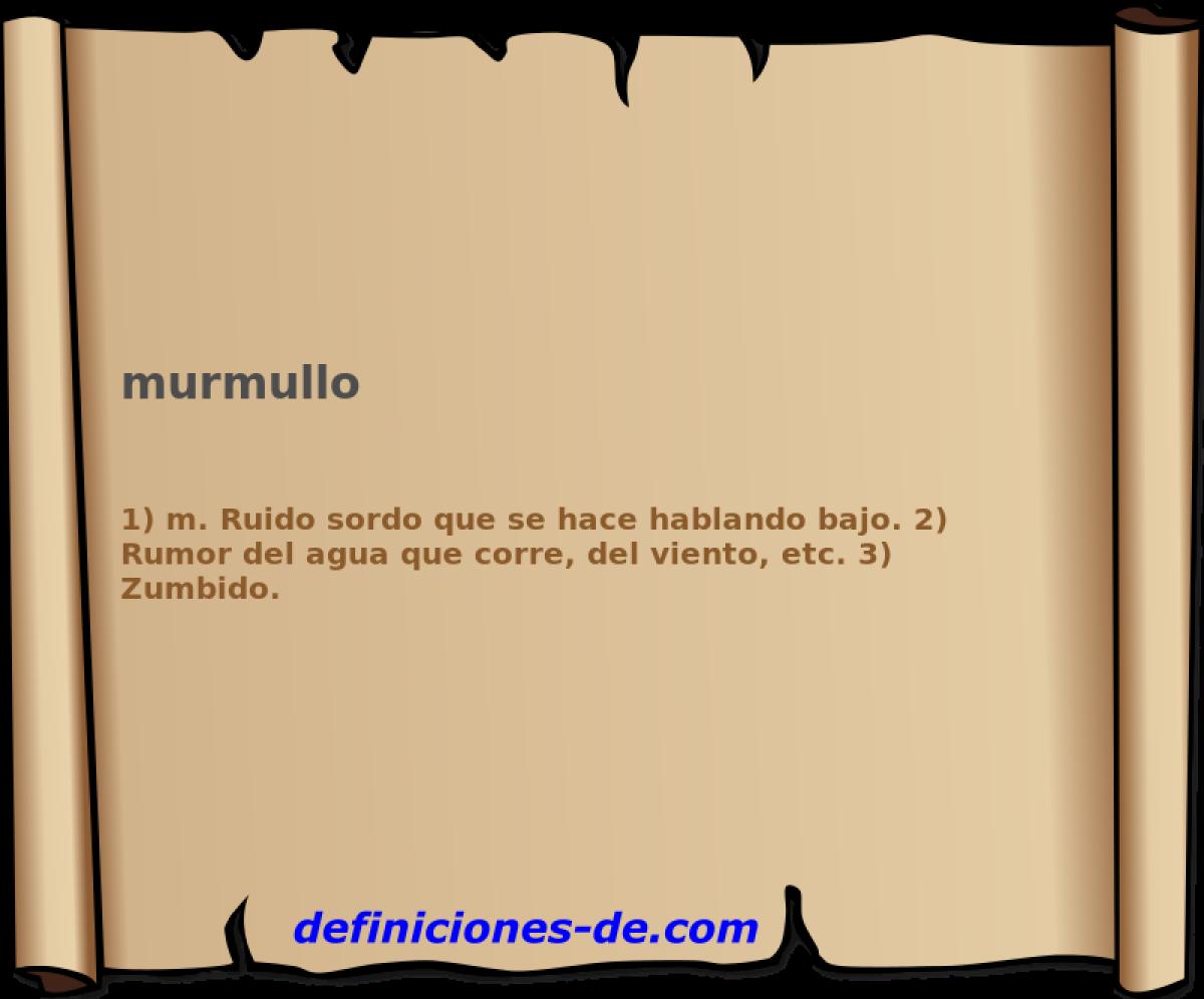 Qué significa Murmullo?
