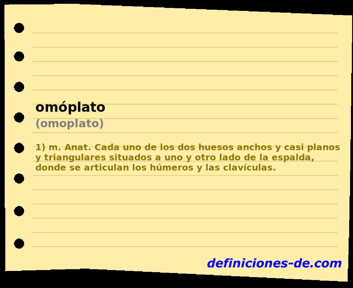 Qué significa Omóplato (omoplato)?