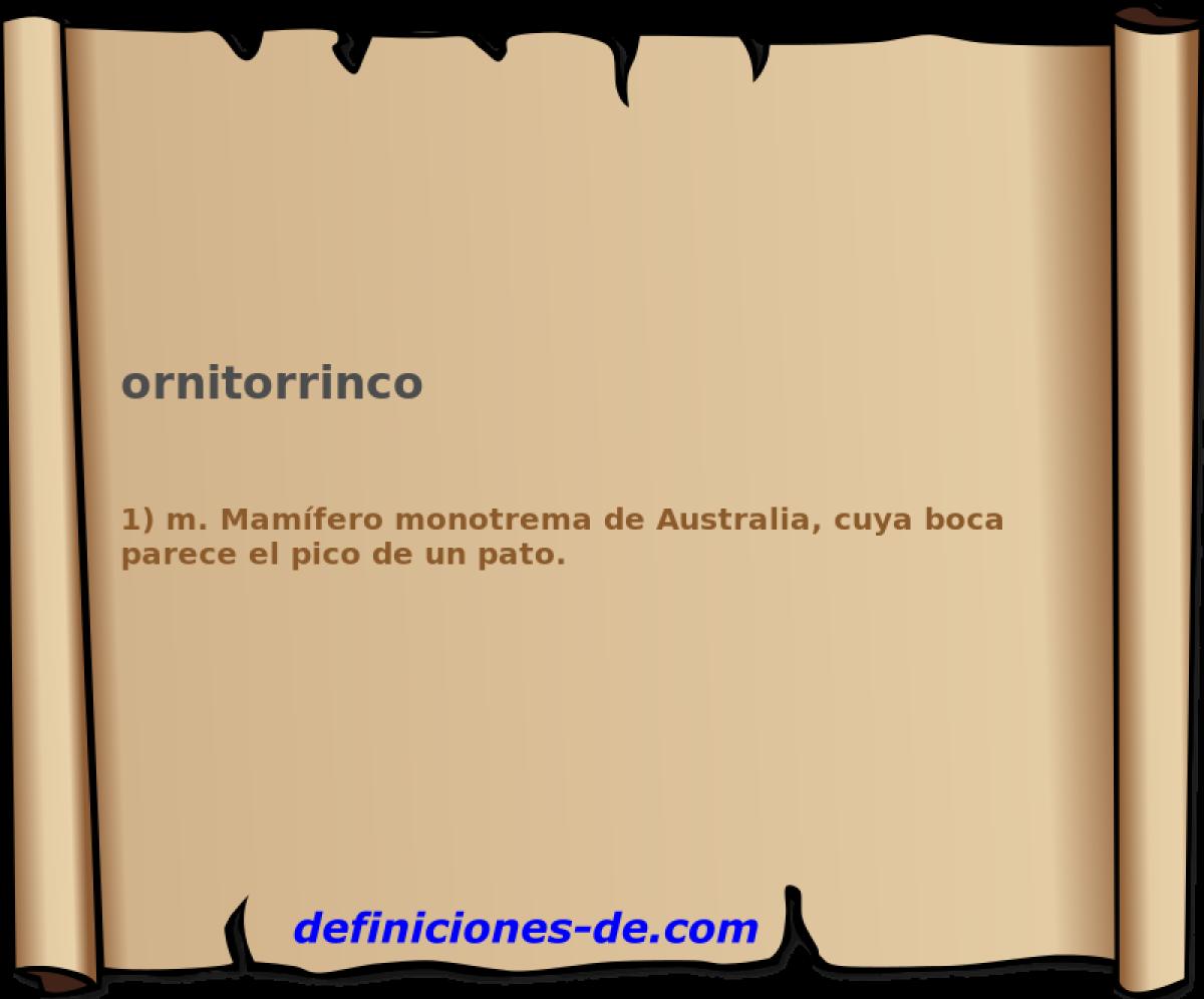 Qué significa Ornitorrinco?