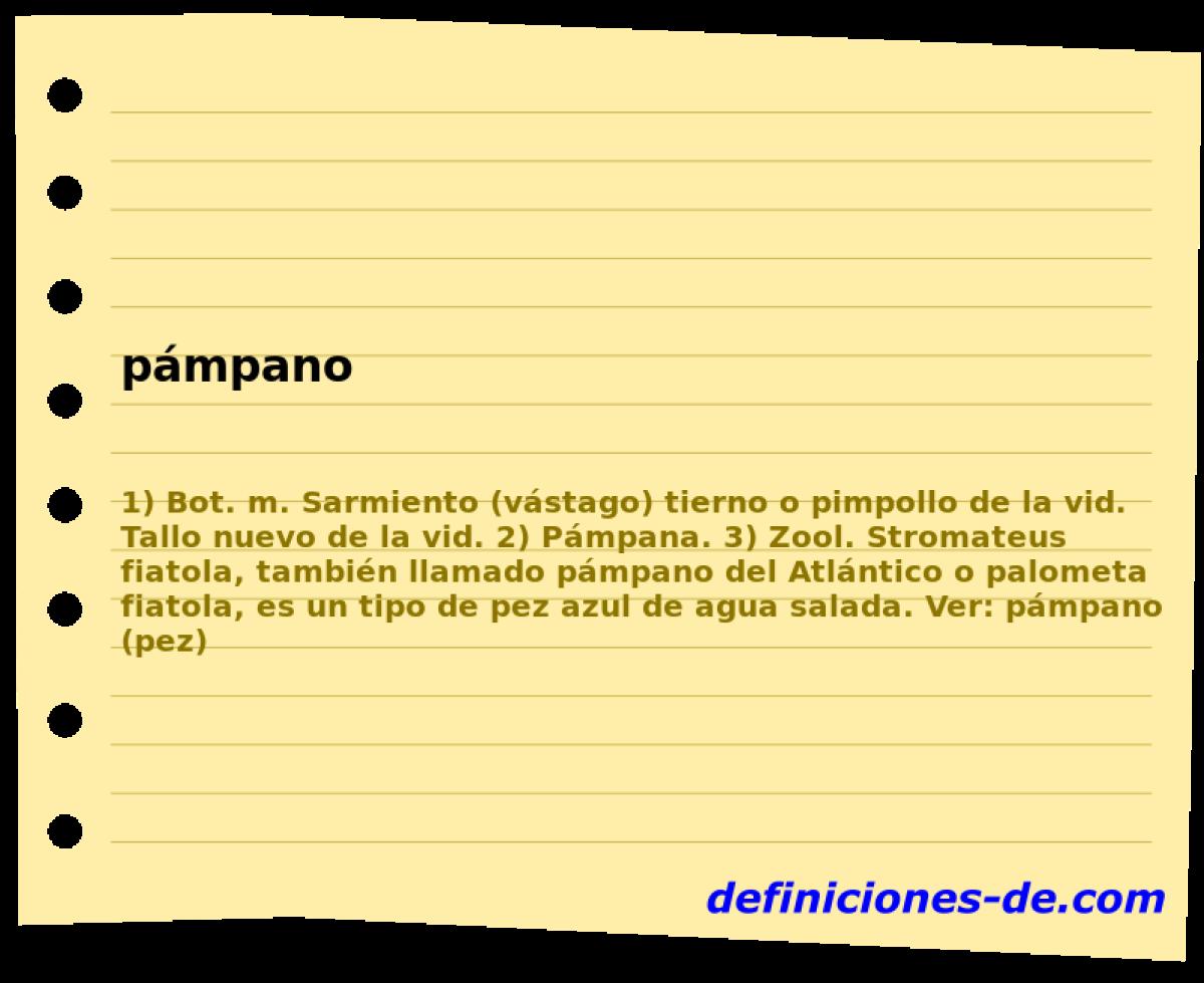 Qué significa Pámpano?
