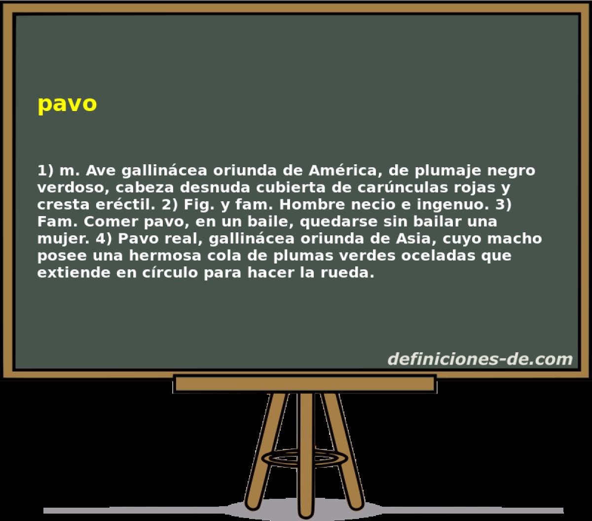 Qué significa Pavo?