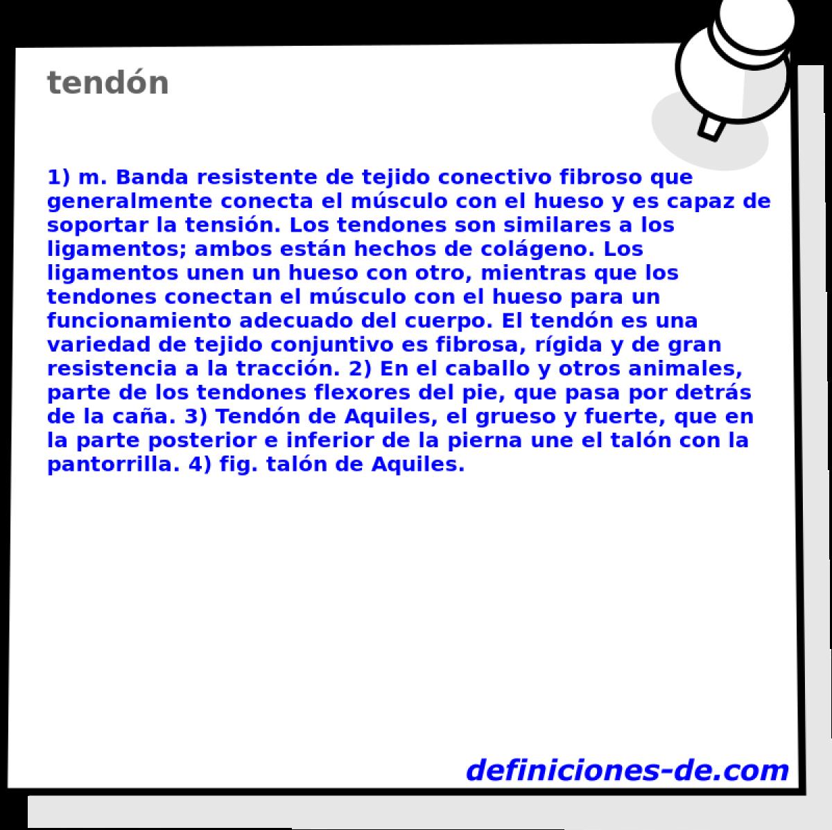 Qué significa Tendón?