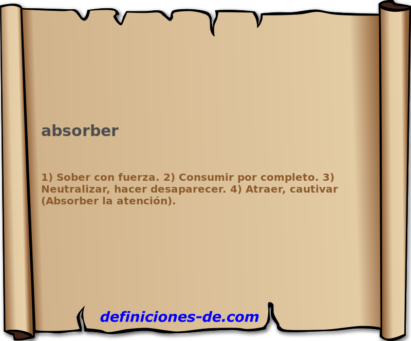 Qué significa Absorber?