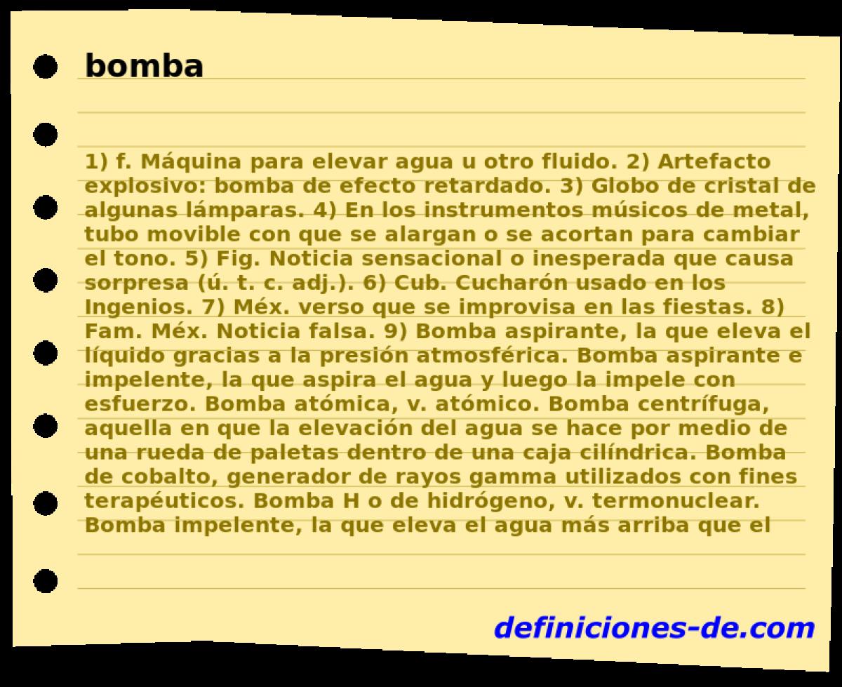 Palabras relacionadas con bomba
