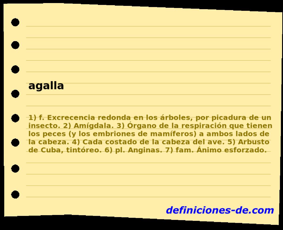 Qué significa Agalla?